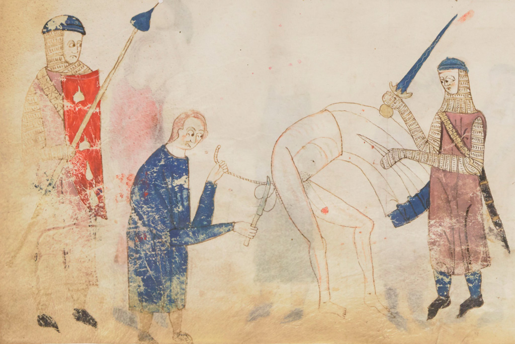 medieval public officials castrating man