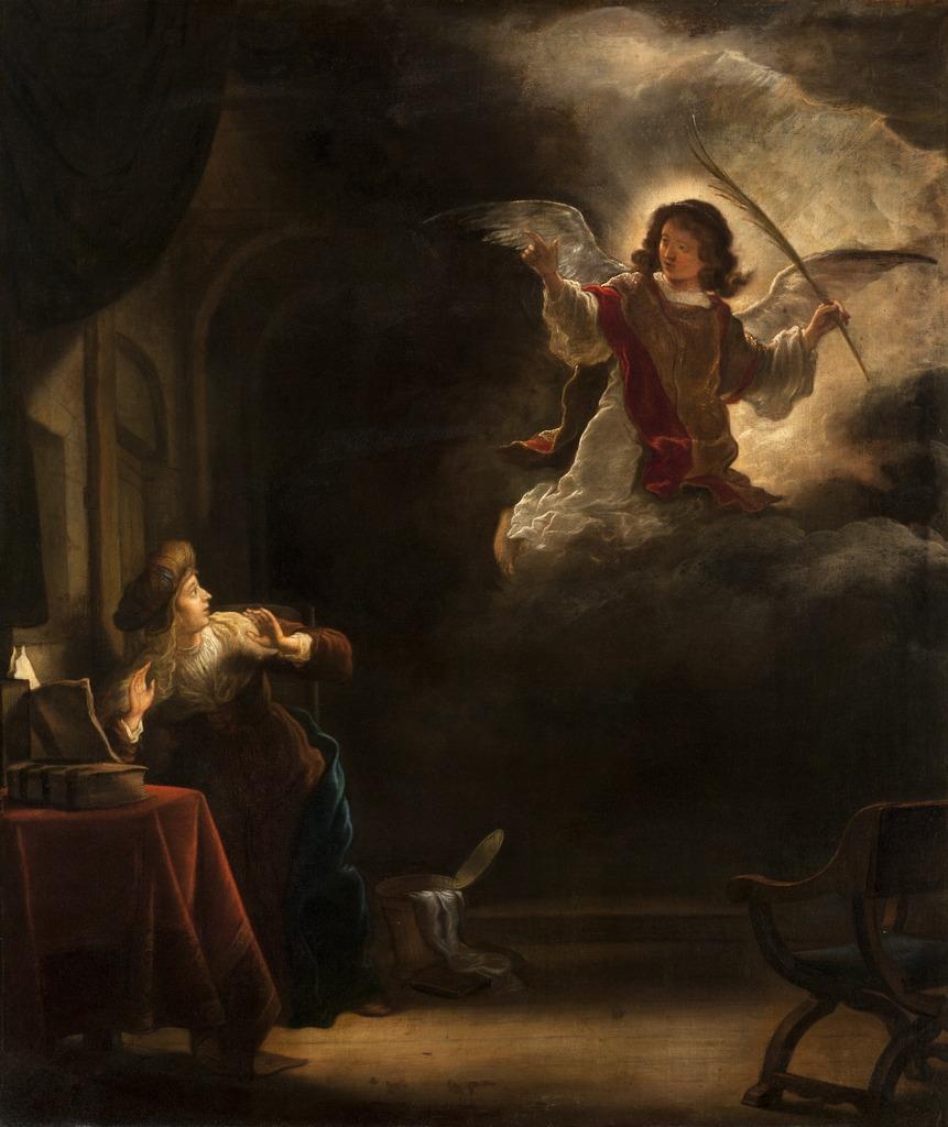 annunciation preceding Mary's Magnificat