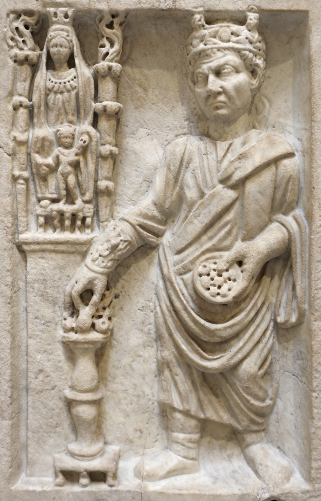 Archigallus making sacrifice to Great Mother goddess Cybele