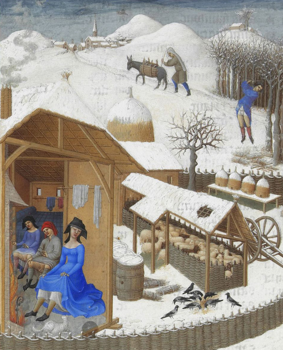 medieval peasants warming their genitals
