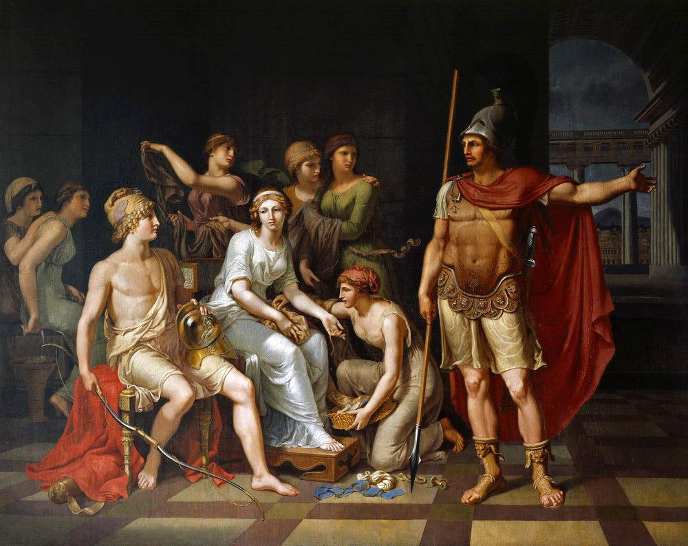 Hector orders Paris from women to war
