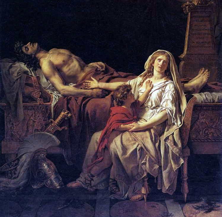 Andromache mourning dead Hector