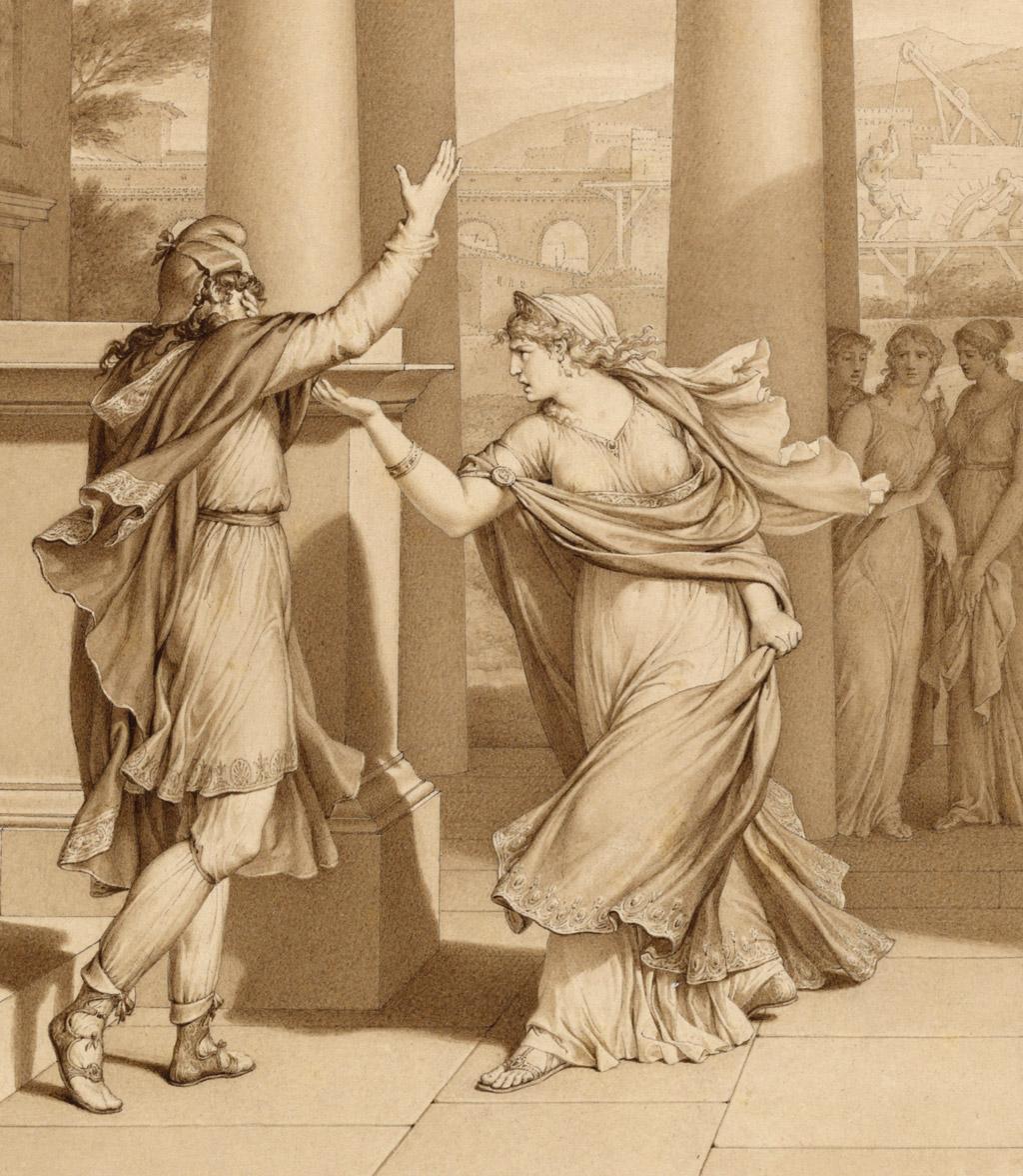 Dido excoriates Aeneas