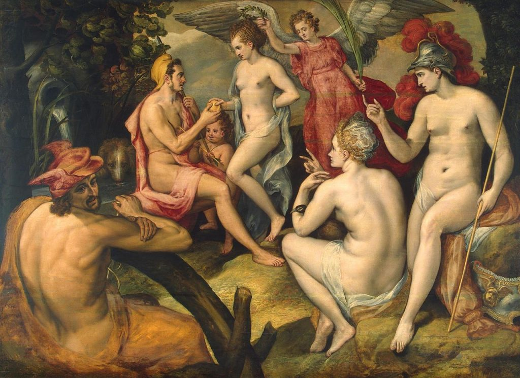 Judgment of Paris in goddesses beauty competition
