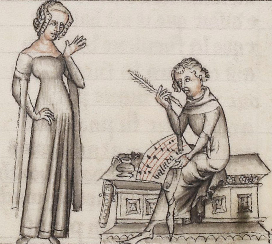 medieval author Machaut writing for woman