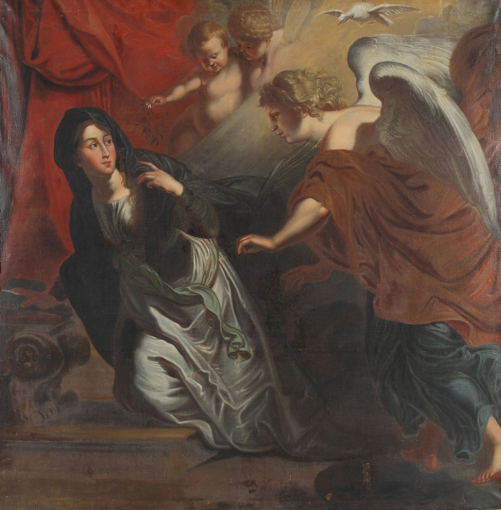 Annunciation of the angel Gabriel to Mary, the mother of Jesus