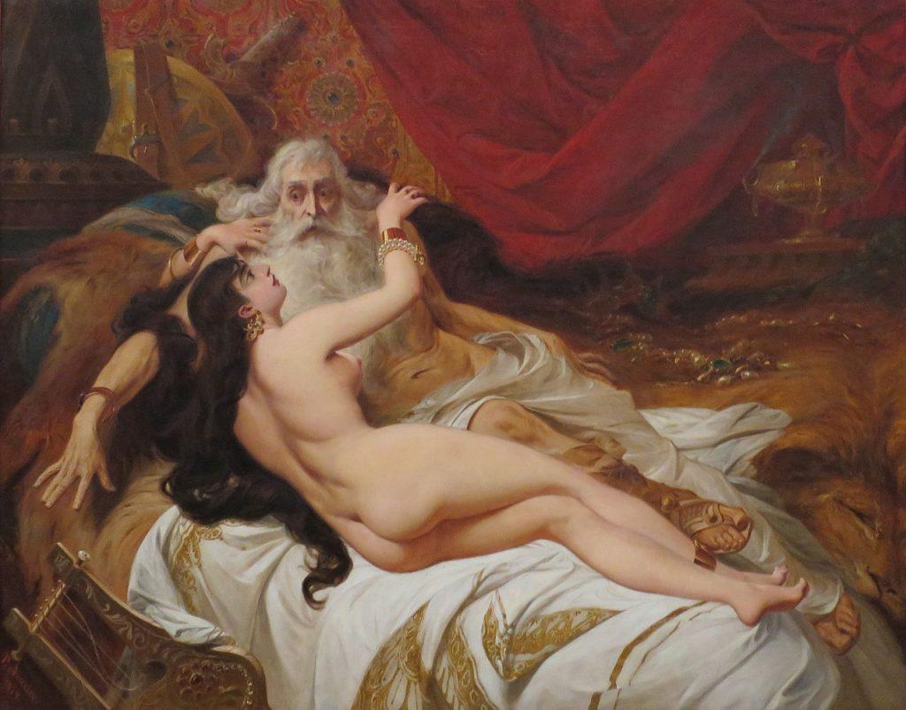 King David in bed with Abishag the Shunammite