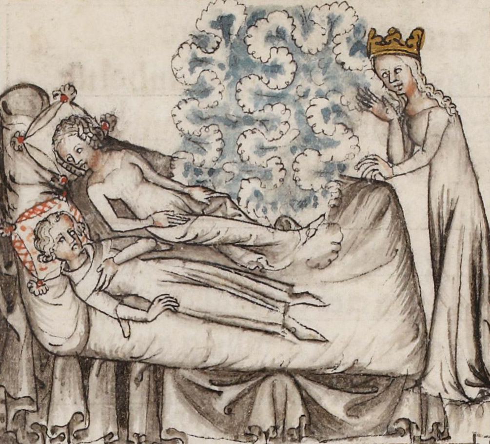 Machaut and Peronne in bed