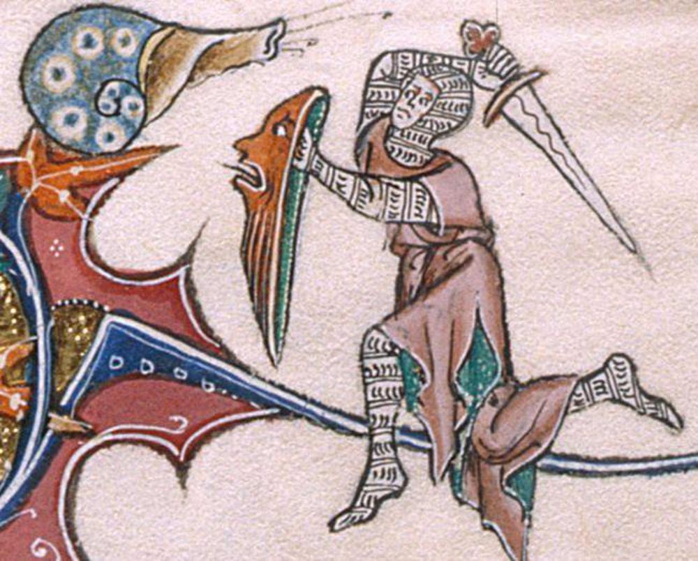 medieval knight battles snail