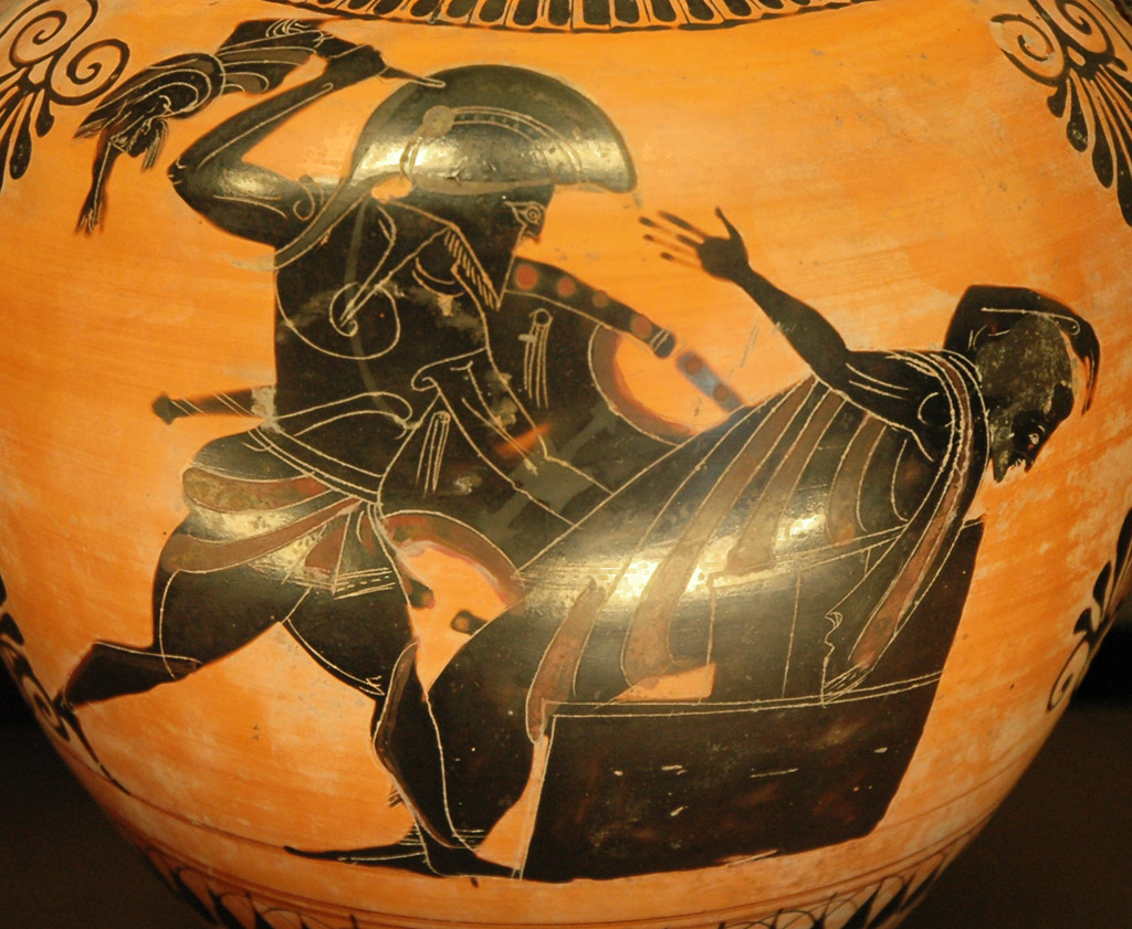 Neoptolemus killing King Priam of Troy