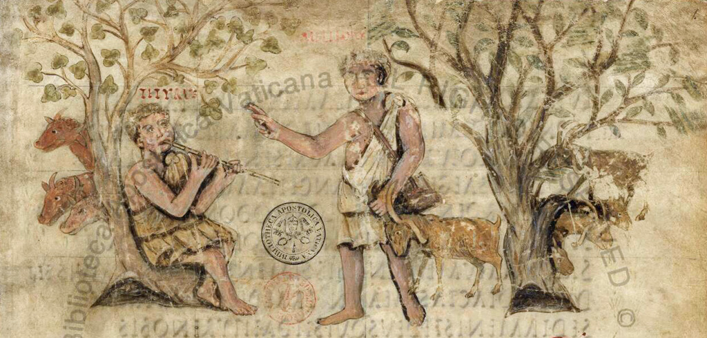 shepherds Meliboeus and Tityrus from Virgil's Eclogues
