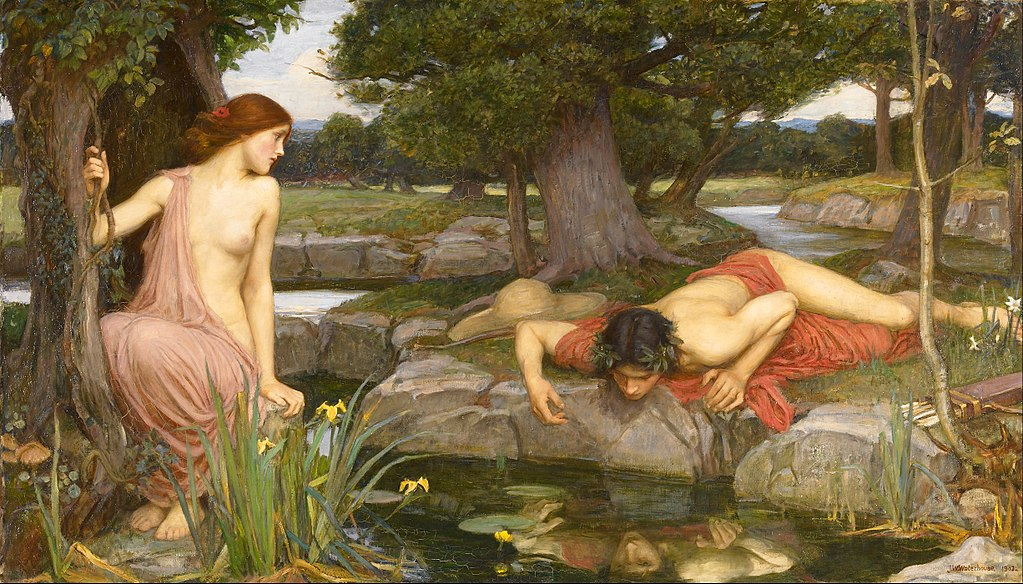 Echo and Narcissus painting of John William Waterhouse
