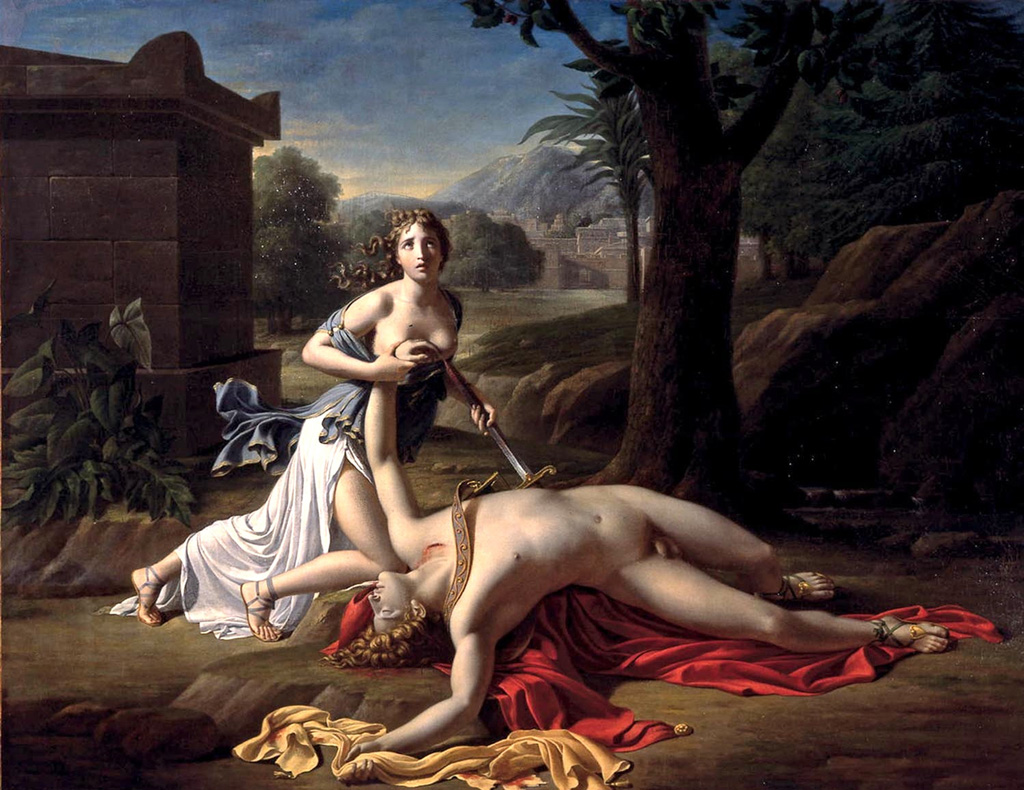 Thisbe's sexual suicide with Pyramus's sword
