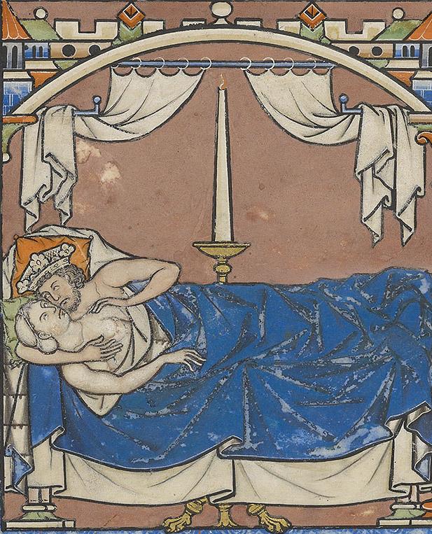 Bathsheba and David in bed