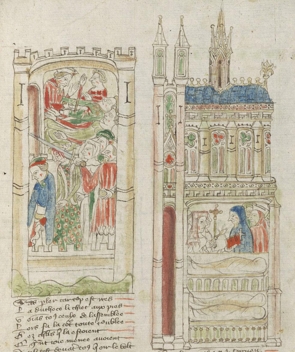 deaths in the Chastelaine de Vergi