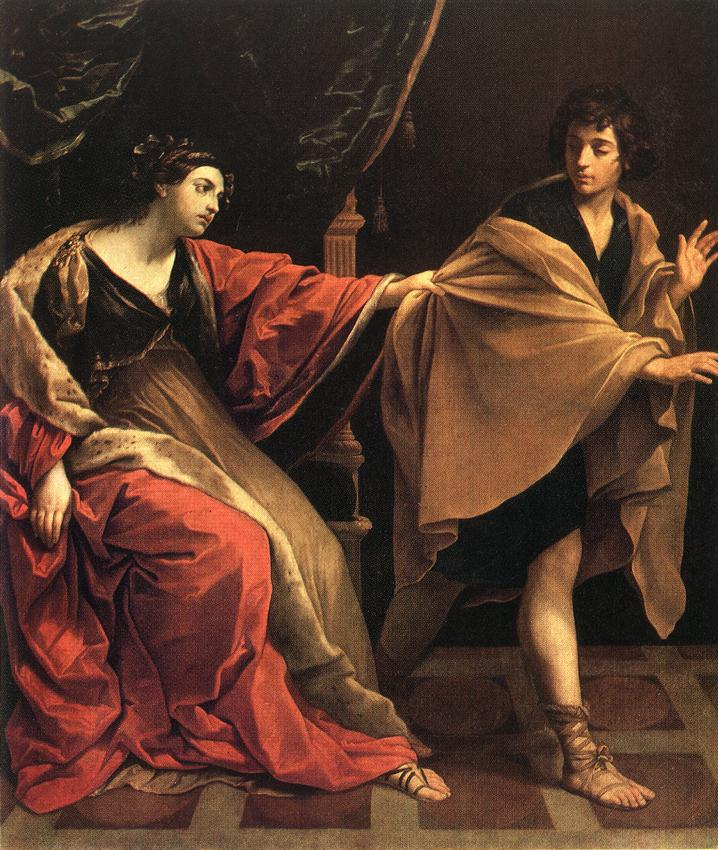 Joseph being sexually harassed by Potiphar's wife