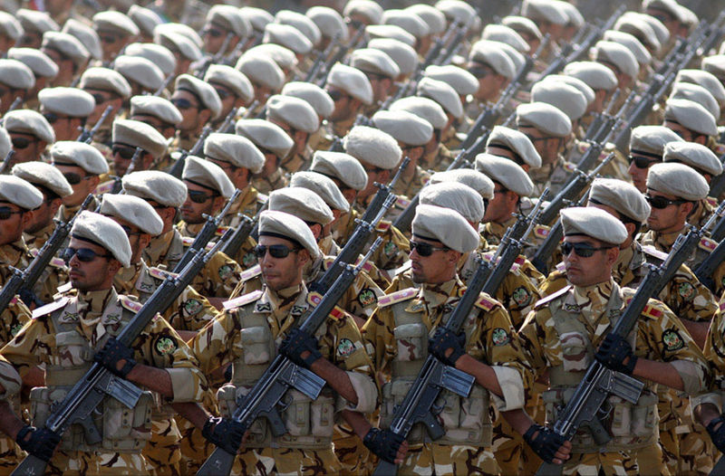 Islamic Republic of Iran Army soldiers marching