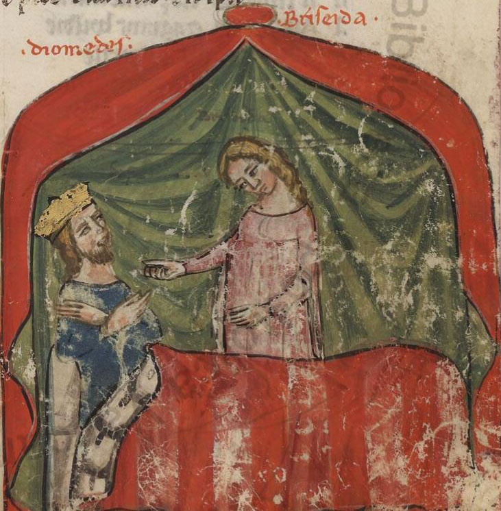 Briseida tending the wounded Diomedes